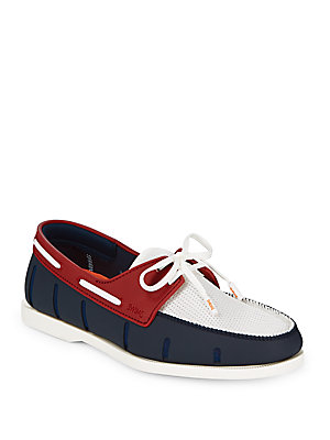 Swims Lace Up Boat Loafers Navy 6NjS0Qrb