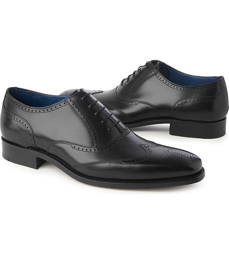 Barker Johnny Wingcap Oxford Shoes Black o4aiR9l