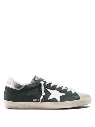 Golden Goose Super Star Low Top Leather Trainers Green p6SBnD