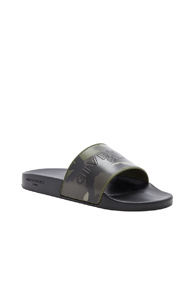 Givenchy Polyurethane Slides In Green Abstract Green Abstract txmZqIeR7
