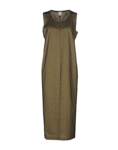 Pinko Tag 3 4 Length Dresses Gold djRdnTjn