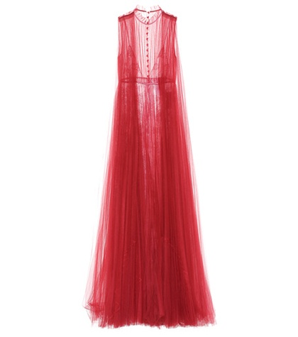 Red Gown Tulle Valentino Tulle Red Gown Valentino Gown Tulle Valentino WIIOqH