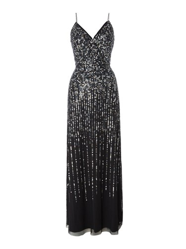 Adrianna Papell Sleeveless Embellished Strappy Gown Black l22F1JrV7