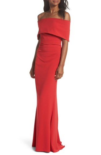 Vince Camuto Popover Gown Red BovzLyjj