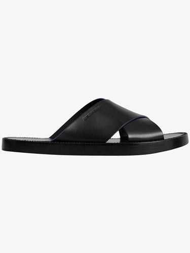 Burberry Contrast Detail Leather Sandals Black vXZjch