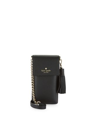 Kate Spade Leather Crossbody Phone Pouch Black DSfIZyx