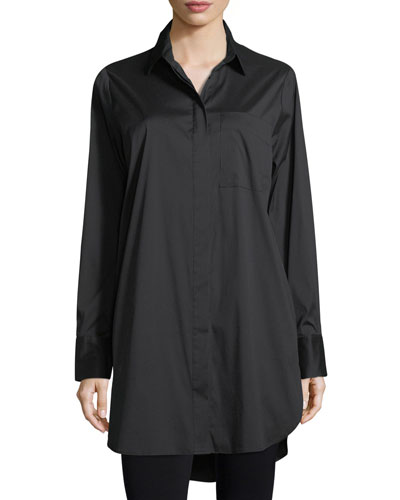Kendall + Kylie Laced Back Long Sleeve Shirtdress Black v8q8Gty8SO