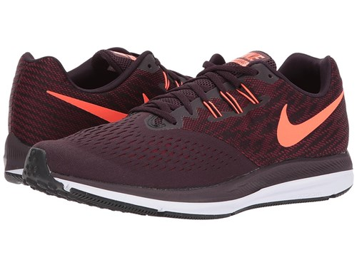 Nike Zoom Winflo 4 Port Wine Total Crimson Team Red Black Running Shoes Brown R47MEBYVx