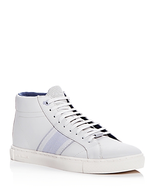 Ted Baker Men's Cruuw Leather High Top Sneakers White nmSoun