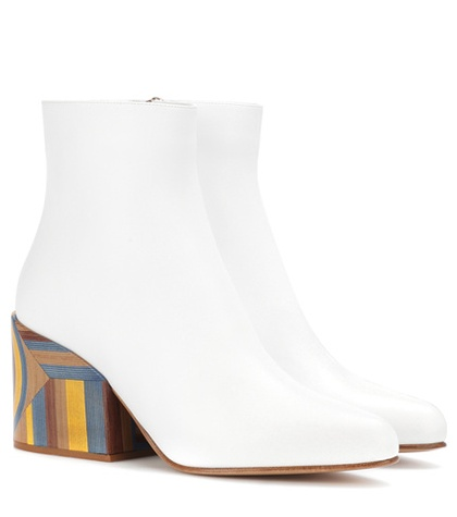 Gabriela Hearst Tito Leather Ankle Boots White k8zwL