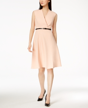 Fit And Nectar Belted Calvin Flare Klein Dress TqExtp