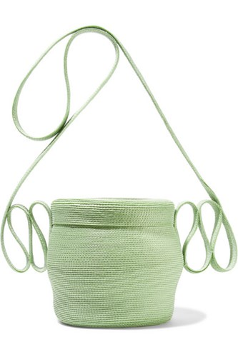 Rosie Assoulin Jug Faux Straw Shoulder Bag Mint Gbp buAZJC2Usd