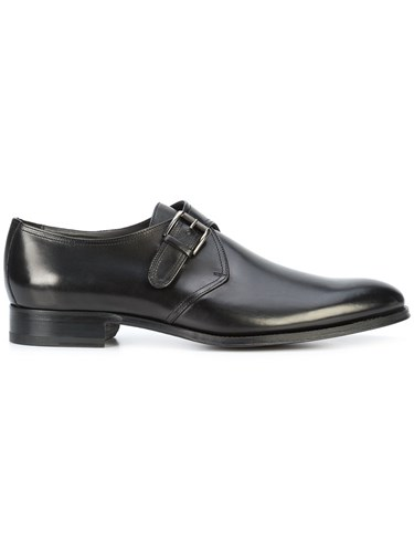 To Boot New York Emmett Strap Monk Shoes Leather Rubber Black 92udgq1