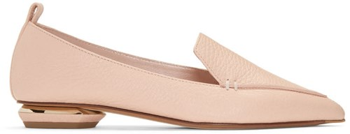 Nicholas Kirkwood Pink Leather Beya Loafers tYVdmFFKB