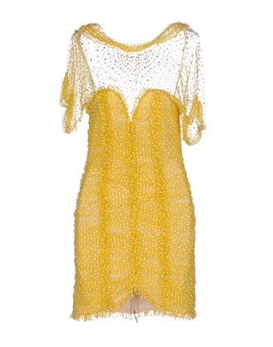 Blumarine Short Dresses Yellow iEIiwg3k