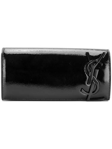 Saint Laurent Monogram Clutch Patent Leather Black yQwsC