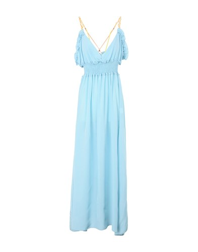 L'EDITO Long Dresses Sky Blue FbAGc