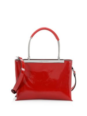 Alexander Wang Small Dime Leather Satchel Lipstick 4QLtTtOHa