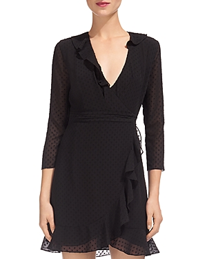 Whistles Mimi Wrap Dress Black lVLyEUmM