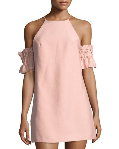 C/meo Collective Double Take Cold Shoulder Mini Dress Pink Qw7A2K1aM