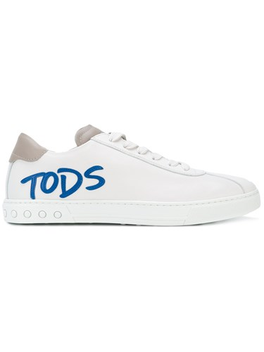 Tod's Logo Applique Lace Up Sneakers White oIycTf