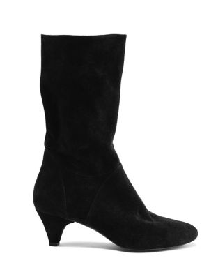 Anne Klein Willoughby Suede Boots Black 9XYyo1l98
