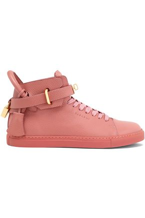 Pebbled Embellished Rose Sneakers Antique Leather Buscemi vFxZq8wap