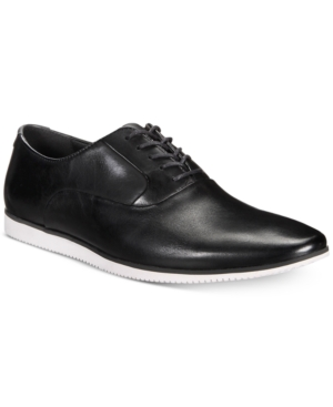 Bar Iii Men's Warner Casual Smooth Lace Up Oxfords Created For Macy's Men's Shoes Black I1hYfnxBVO