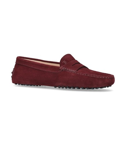 Tod's Suede Driving Shoes Burgundy 05iGQlqHCl