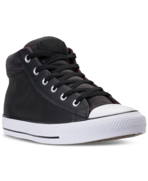 Converse Men's Chuck Taylor All Star Street Mid Casual Sneakers From Finish Line Black I80zlpn