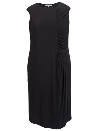 Chesca Ruched Detail Dress Black n0Tfn