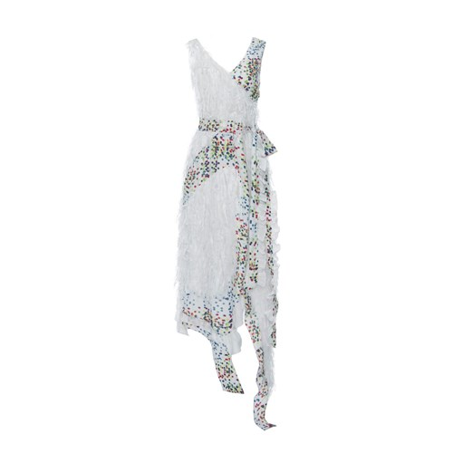 Boo Pala Feeling Dotty Dress White CPO48cgu