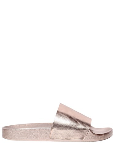 Windsor Smith 20Mm Ines Faux Leather Slide Sandals Rosegold KQeuy