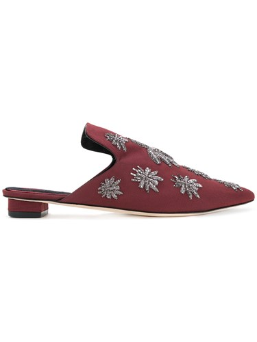 Applique Spider Mules 313 Red Sanayi 71wgqv4