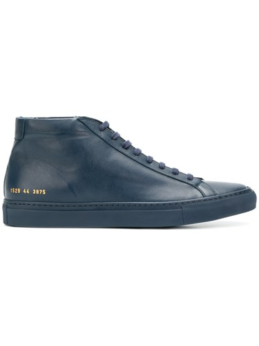 Common Projects Achilles High Top Sneakers Blue oHKmfDC2