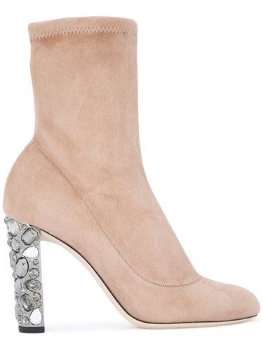 Jimmy Choo Maine Boots Leather Suede Polyester Nude Neutrals 3GGQ9fEV
