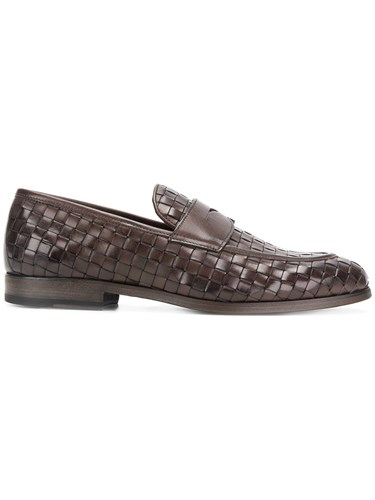 Woven Dell'Oglio Brown Classic Loafers Dell'Oglio Classic xdwXqt6d