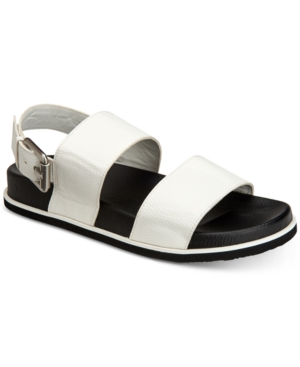 Smooth Men's Calvin Magnum Tumbled Klein Men's Shoes White Sandals Leather taawZ01q