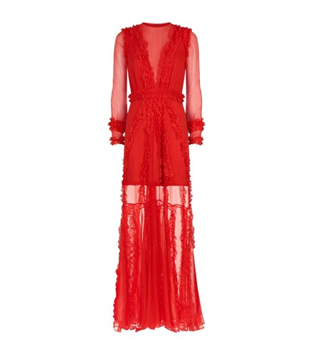Alexis Janine Sheer Gown Red wq9OA8DR