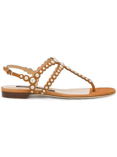 Sergio Rossi Open Toe Studded Sandals Suede Leather Brown 7dVFBGdba