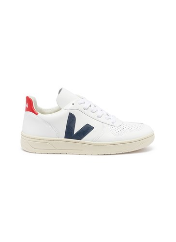 Veja 'V 10' Perforated Leather Sneakers White uYqJg83Frk