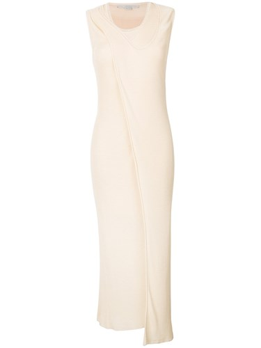 Stella McCartney Sleeveless Asymmetric Dress Nude And Neutrals a9oaAj