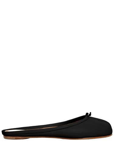 Maison Martin Margiela 10Mm Tabi Leather Mules Black 5pVcyt4KM