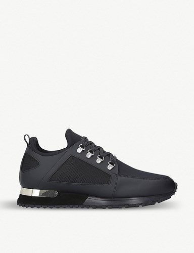 MALLET Hiker Leather And Neoprene Trainers Black SnHFyH