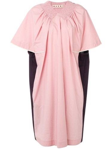 Marni Oversized T Shirt Dress Pink And Purple 7jXGN