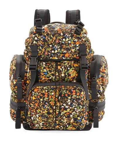 DSquared Men's Akira Floral Print Backpack Multi 5BEUhrp