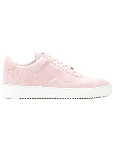 Filling Pieces Tonal Sneakers Calf Leather Calf Suede Rubber Pink Purple VZjE1oHfMO