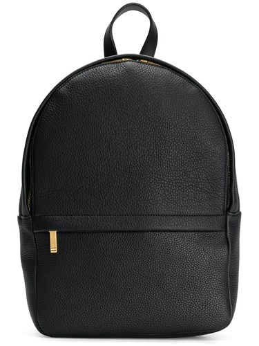 Thom Browne Small Unstructured Backpack In Tumbled Calf Leather Black TpR5g2