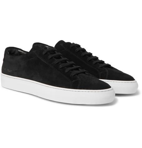Common Projects Original Achilles Suede Sneakers Black 2Ci2iq