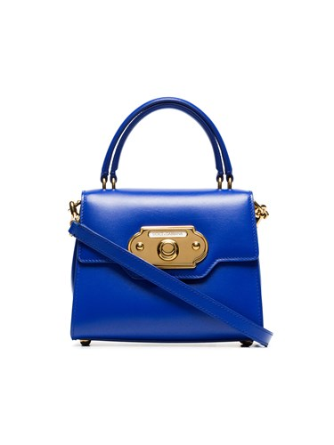 Dolce & Gabbana Blue Welcome Small Leather Tote pFGMd2gL